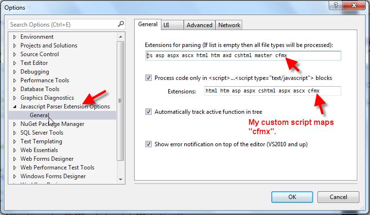 JS Parser Visual Studio Plug-In - West Wind Message Board