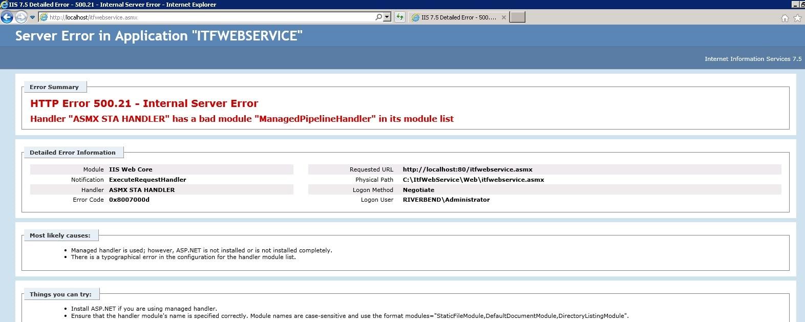 Setup of ASP NET web service on server using IIS - West Wind